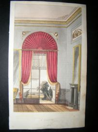 Ackermann 1816 Hand Col Decorative Print. A Saloon